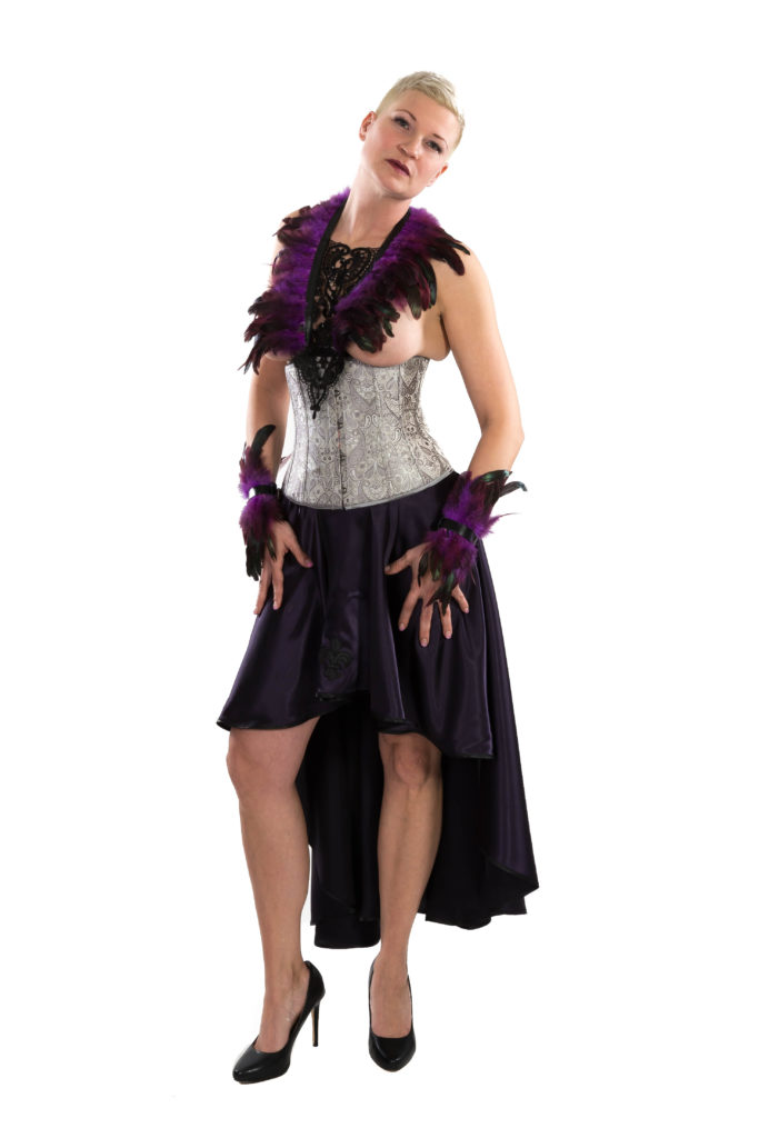 SiaLinda Outfit mit Zaha aubergine