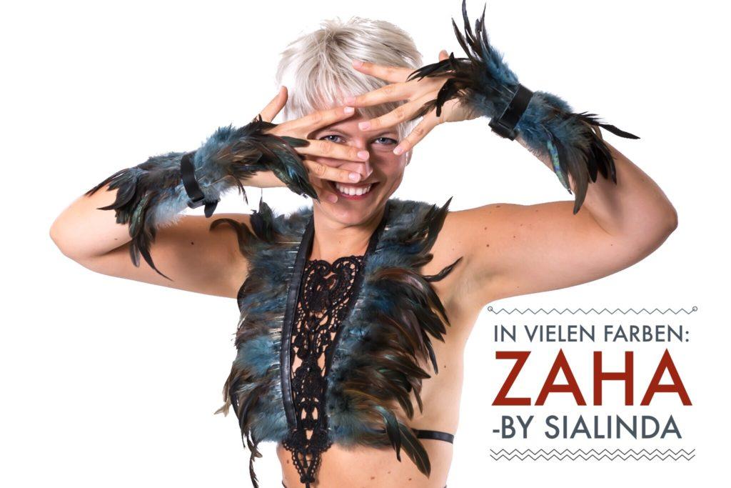 Harness Zaha grau-blau mit passenden Armbändern