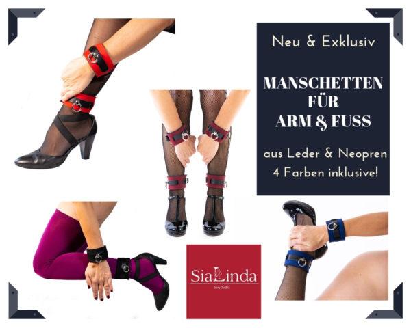 SiaLinda Neopren BDSM Armbänder