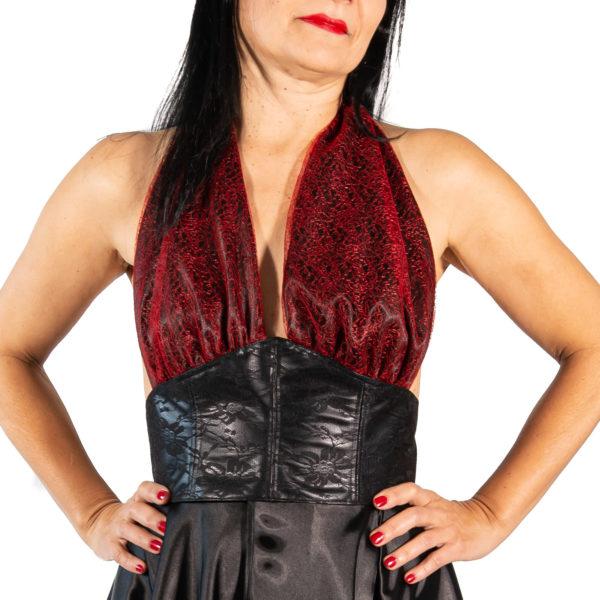 SiaLinda Top Prima schwarz-rot